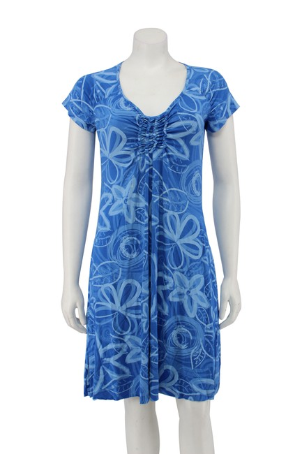 Preload https://img-static.tradesy.com/item/25872753/fresh-produce-blue-floral-rayon-stretch-ruching-a-line-short-casual-dress-size-6-s-0-0-650-650.jpg