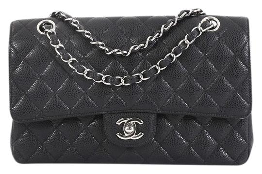 Preload https://img-static.tradesy.com/item/25872789/chanel-classic-flap-classic-double-quilted-caviar-medium-black-leather-shoulder-bag-0-1-540-540.jpg