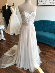 Wtoo Rosegold Lace & Tulle Catherine 16718 Casual Wedding Dress Size 6 (S)