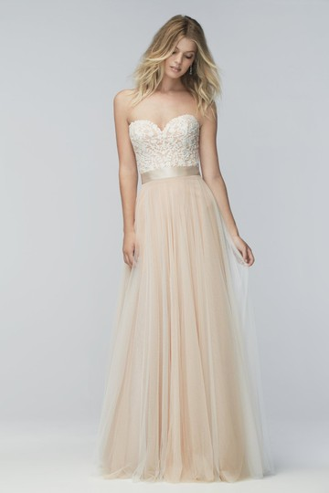 Wtoo Rosegold Lace & Tulle Catherine 16718 Casual Wedding Dress Size 6 (S) Image 1