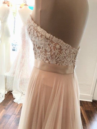 Wtoo Rosegold Lace & Tulle Catherine 16718 Casual Wedding Dress Size 6 (S) Image 2