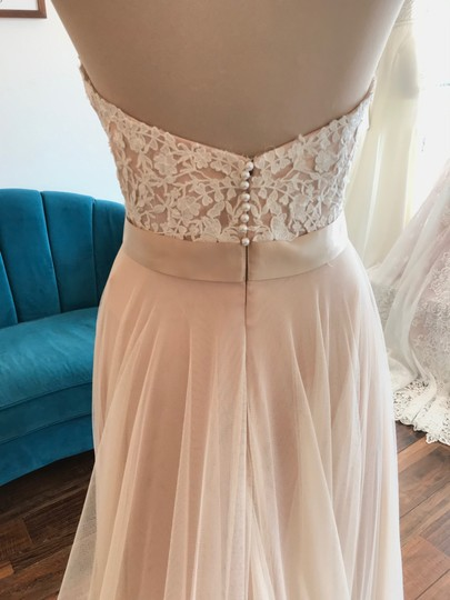 Wtoo Rosegold Lace & Tulle Catherine 16718 Casual Wedding Dress Size 6 (S) Image 3