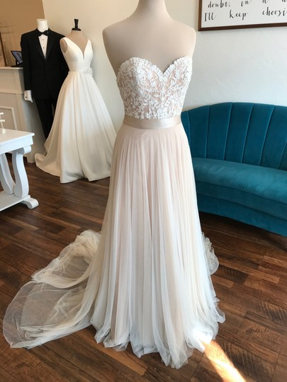 Wtoo Rosegold Lace & Tulle Catherine 16718 Casual Wedding Dress Size 6 (S) Image 4