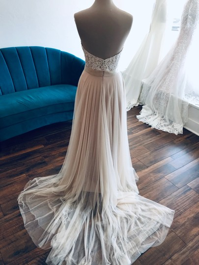 Wtoo Rosegold Lace & Tulle Catherine 16718 Casual Wedding Dress Size 6 (S) Image 5