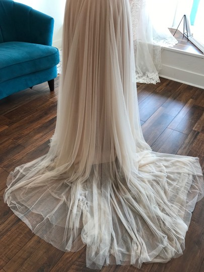 Wtoo Rosegold Lace & Tulle Catherine 16718 Casual Wedding Dress Size 6 (S) Image 6