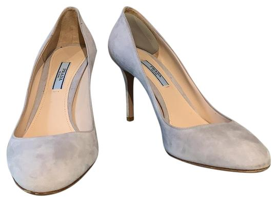 Preload https://img-static.tradesy.com/item/25872837/prada-gray-suede-round-pumps-size-eu-38-approx-us-8-regular-m-b-0-1-540-540.jpg