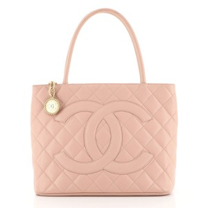 Chanel Medallion Caviar Tote in pink