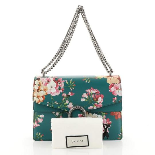 Gucci Leather Satchel in Green Image 1