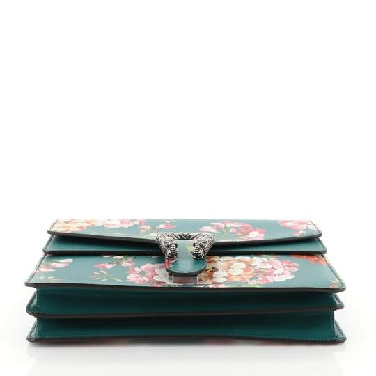 Gucci Leather Satchel in Green Image 4