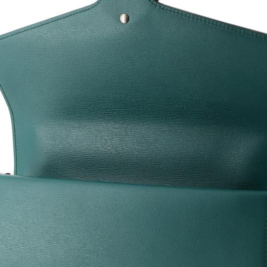 Gucci Leather Satchel in Green Image 6