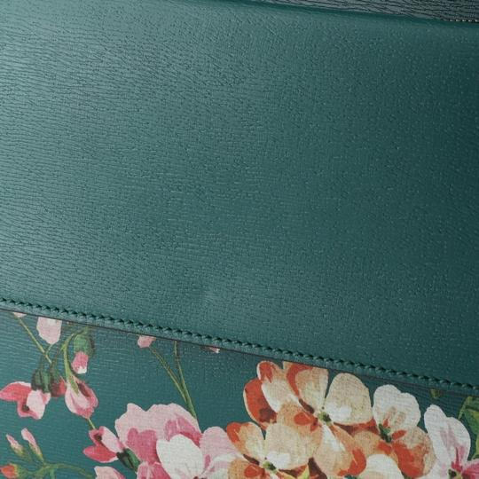 Gucci Leather Satchel in Green Image 7