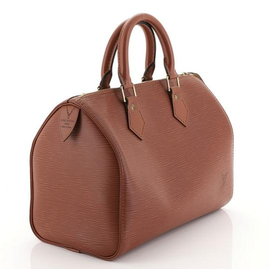 Louis Vuitton Leather Satchel in Brown Image 1