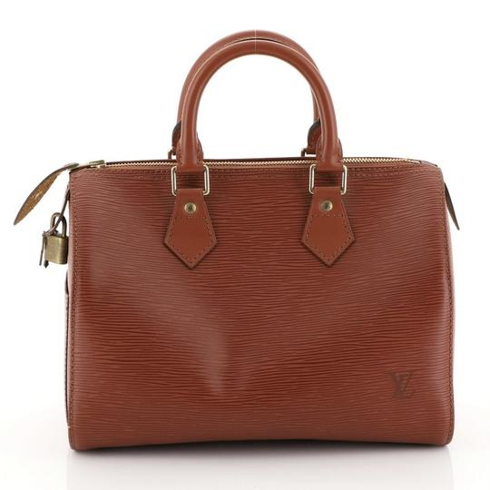 Louis Vuitton Leather Satchel in Brown Image 2