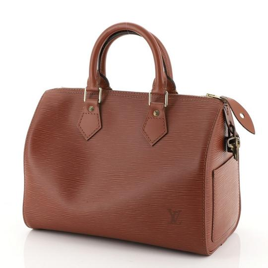 Louis Vuitton Leather Satchel in Brown Image 3