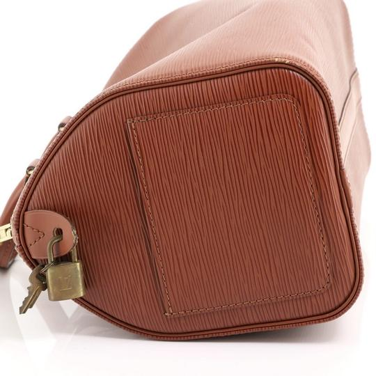 Louis Vuitton Leather Satchel in Brown Image 6