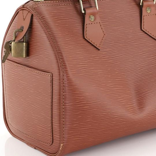 Louis Vuitton Leather Satchel in Brown Image 7