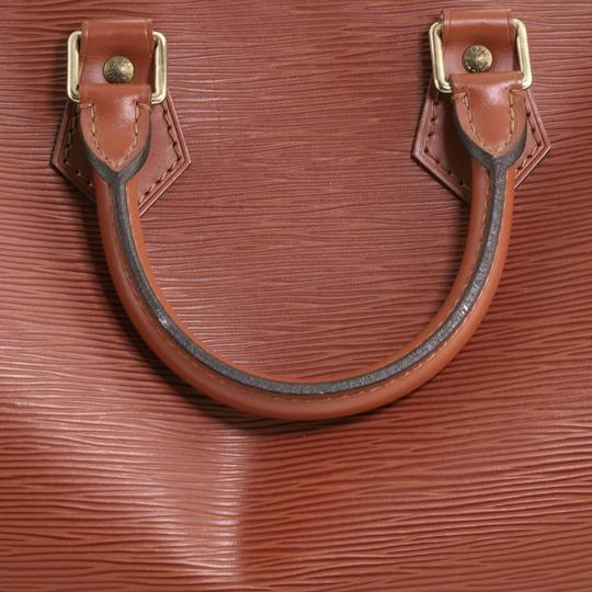 Louis Vuitton Leather Satchel in Brown Image 8