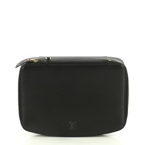 Louis Vuitton Monte-carlo Jewelry Box Leather Black Clutch