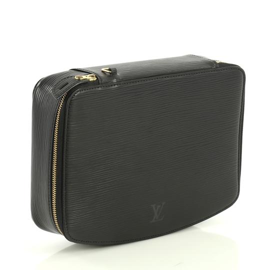 Louis Vuitton Monte-carlo Jewelry Box Leather Black Clutch Image 1