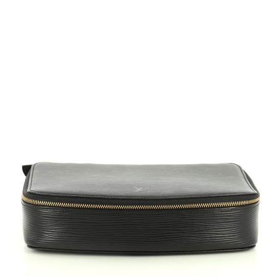 Louis Vuitton Monte-carlo Jewelry Box Leather Black Clutch Image 3