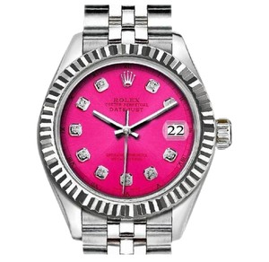 Rolex Rolex Ladies 26mm Datejust with Diamond Pink Dial Watch