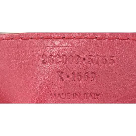Balenciaga Leather Satchel in Pink Image 11