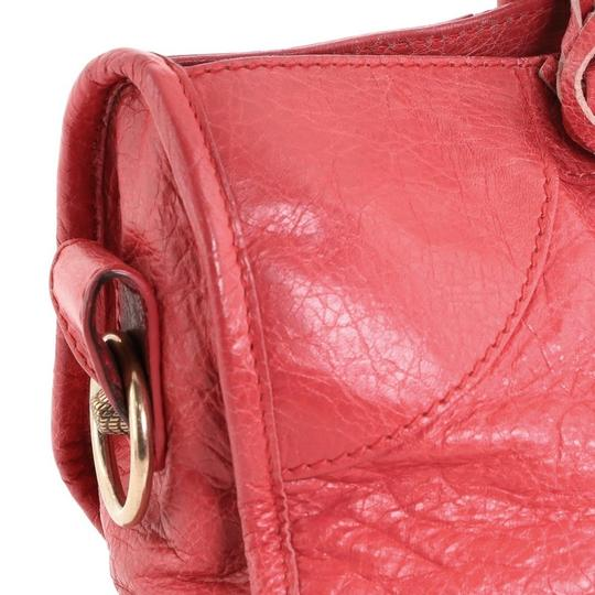 Balenciaga Leather Satchel in Pink Image 6