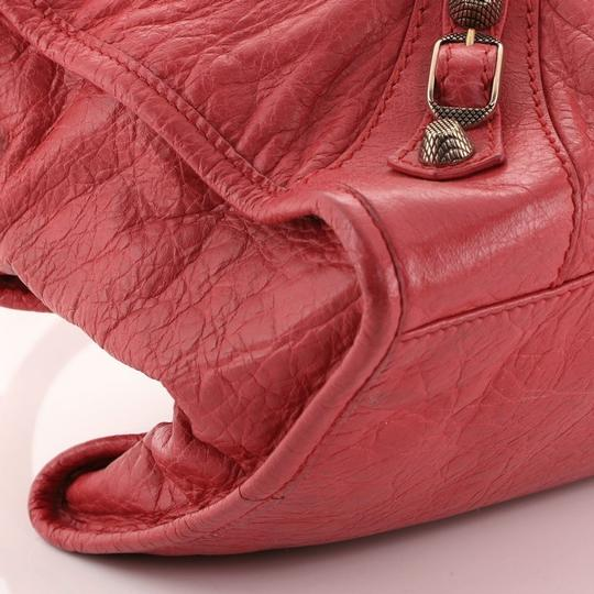 Balenciaga Leather Satchel in Pink Image 7