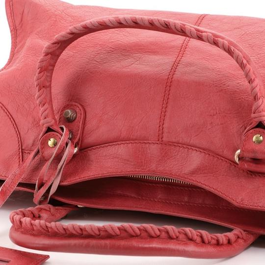 Balenciaga Leather Satchel in Pink Image 8