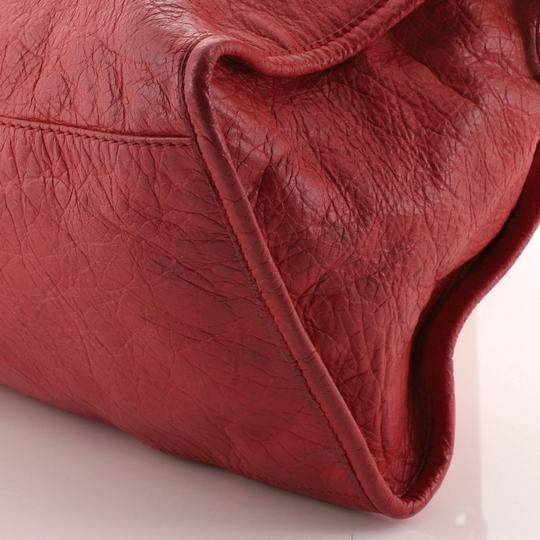Balenciaga Leather Satchel in Pink Image 9