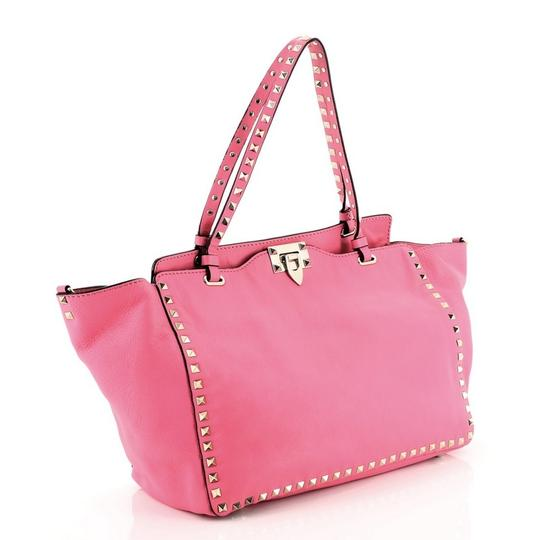 Valentino Leather Tote in Pink Image 1