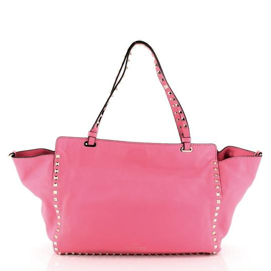 Valentino Leather Tote in Pink Image 2