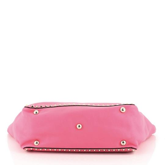 Valentino Leather Tote in Pink Image 3
