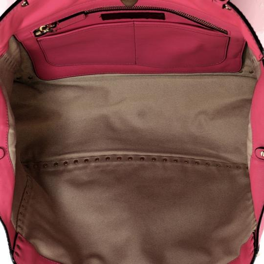 Valentino Leather Tote in Pink Image 4