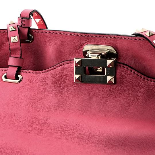 Valentino Leather Tote in Pink Image 5