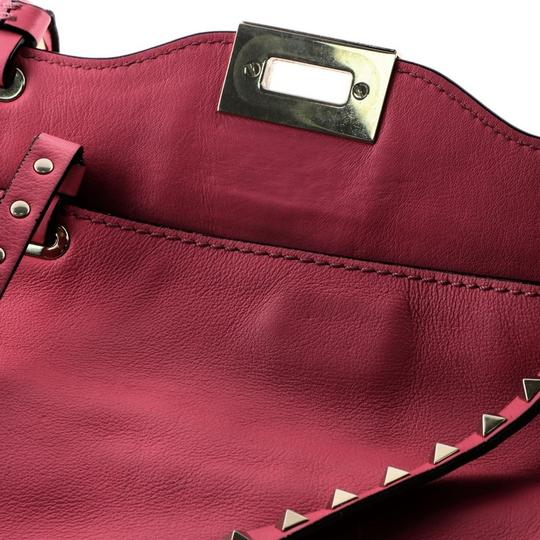 Valentino Leather Tote in Pink Image 6