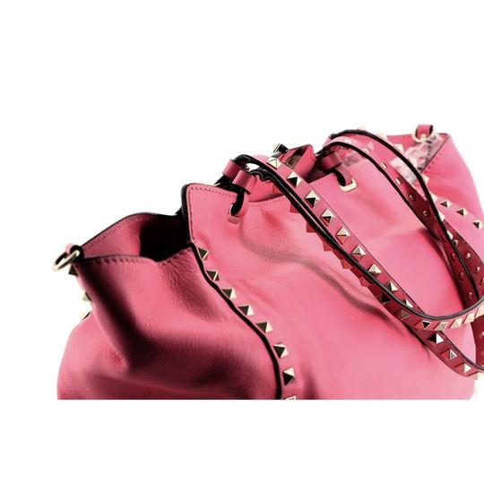 Valentino Leather Tote in Pink Image 7