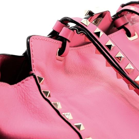 Valentino Leather Tote in Pink Image 8