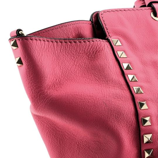 Valentino Leather Tote in Pink Image 9