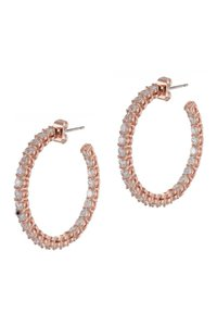 Kenneth Jay Lane CZ By Kenneth Jay Lane Round CZ Inside-Out Hoop Earrings
