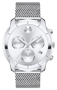 Movado Bold Stainless Steel Mesh Strap Chronograph Mens 3600371
