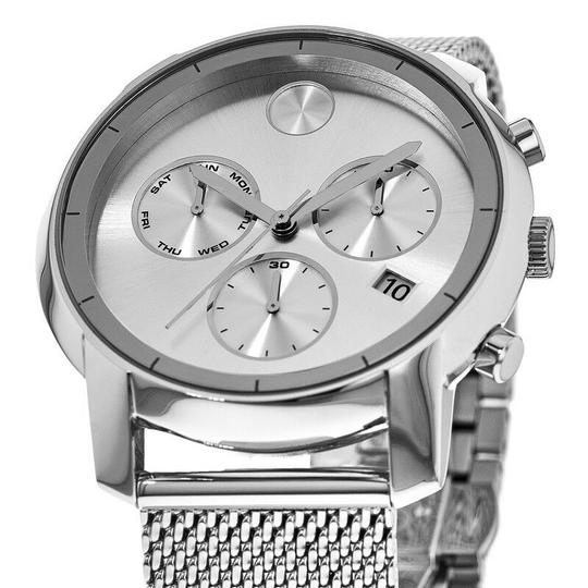 Movado Bold Stainless Steel Mesh Strap Chronograph Mens 3600371 Image 2