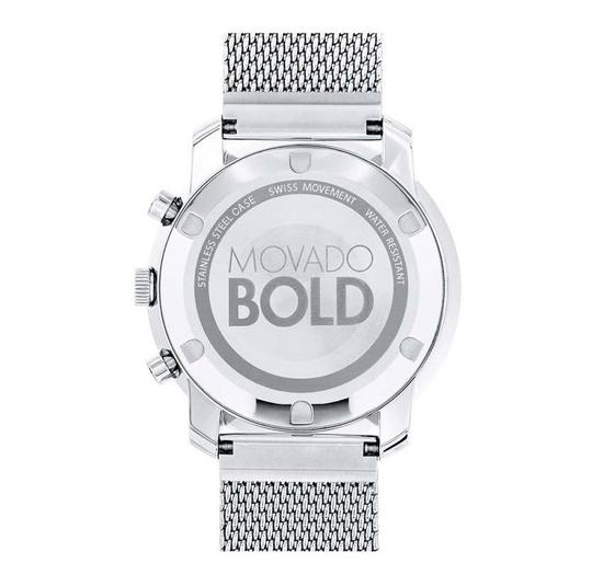 Movado Bold Stainless Steel Mesh Strap Chronograph Mens 3600371 Image 3
