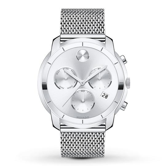Movado Bold Stainless Steel Mesh Strap Chronograph Mens 3600371 Image 4