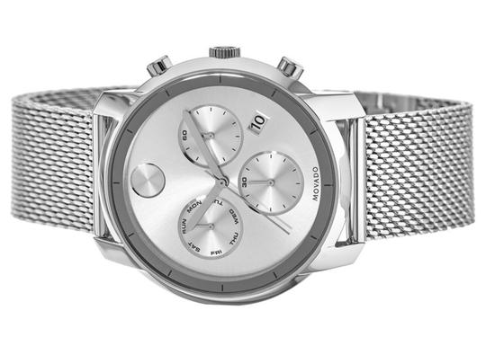Movado Bold Stainless Steel Mesh Strap Chronograph Mens 3600371 Image 9