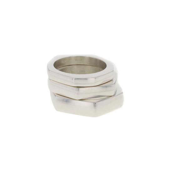 Gucci Hexagon Shape Set Of 3 Rings (Size-5) Image 1