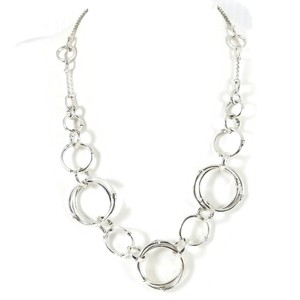 """John Hardy John Hardy Sterling Silver 17"""" Bamboo Rings Chain Necklace"""