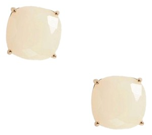 Kate Spade NWT mini small square semiprecious stone stud