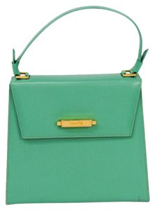 Céline Satchel in Emerald green