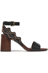 See by Chloé Brown Black Sandals